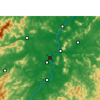 Nearby Forecast Locations - Ji'an - Map