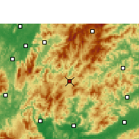 Nearby Forecast Locations - Rucheng - Map