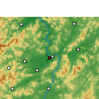 Nearby Forecast Locations - Ganzhou - Map