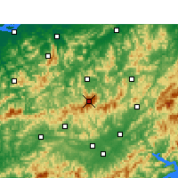 Nearby Forecast Locations - Huangshan - Map