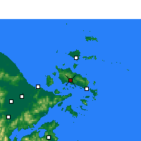 Nearby Forecast Locations - Dinghai - Map