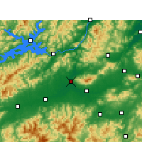 Nearby Forecast Locations - Lanxi - Map