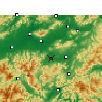 Nearby Forecast Locations - Wuyi/ZHJ - Map