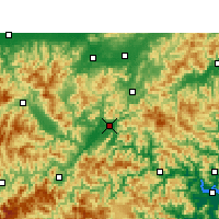 Nearby Forecast Locations - Lishui - Map