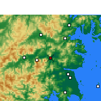 Nearby Forecast Locations - Linhai - Map