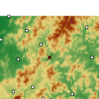 Nearby Forecast Locations - Shaowu - Map