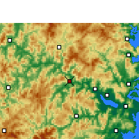 Nearby Forecast Locations - Minqing - Map