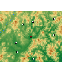 Nearby Forecast Locations - Meixian - Map