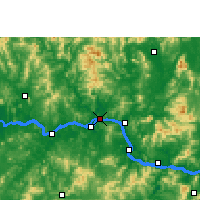 Nearby Forecast Locations - Wuzhou - Map