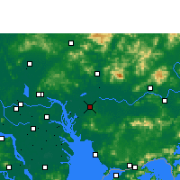 Nearby Forecast Locations - Dongguan - Map