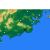 Nearby Forecast Locations - Huilai - Map