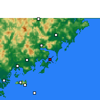 Nearby Forecast Locations - Dongshan - Map