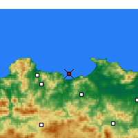 Nearby Forecast Locations - Skikda - Map