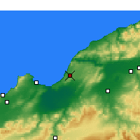 Nearby Forecast Locations - Mostaganem - Map