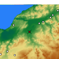 Nearby Forecast Locations - Relizane - Map