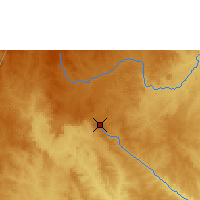 Nearby Forecast Locations - Bouar - Map