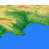 Nearby Forecast Locations - Port of Ngqura - Map