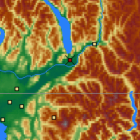 Nearby Forecast Locations - Agassiz - Map
