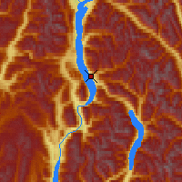 Nearby Forecast Locations - Nakusp - Map