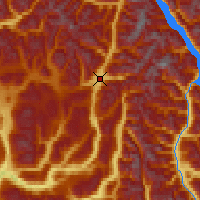 Nearby Forecast Locations - Blue River - Map
