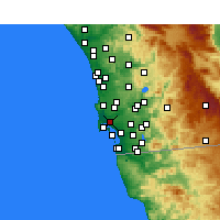 Nearby Forecast Locations - San Diego - Map