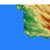 Nearby Forecast Locations - Lompoc AFB - Map