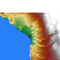 Nearby Forecast Locations - Arica - Map