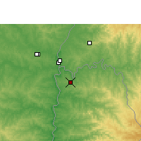 Nearby Forecast Locations - Puerto Iguazú - Map