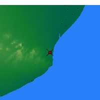 Nearby Forecast Locations - Mar del Plata - Map