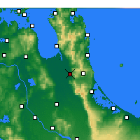 Nearby Forecast Locations - Paeroa - Map