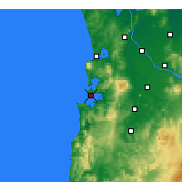 Nearby Forecast Locations - Kāwhia Harbour - Map