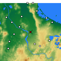 Nearby Forecast Locations - Tirau - Map