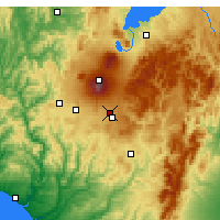 Nearby Forecast Locations - Waiouru Airstrip - Map