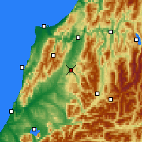 Nearby Forecast Locations - Reefton - Map
