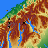 Nearby Forecast Locations - Fox Glacier - Map