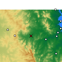 Nearby Forecast Locations - Gatton - Map