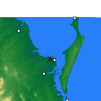 Nearby Forecast Locations - Pialba - Map