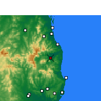 Nearby Forecast Locations - Murwillumbah - Map