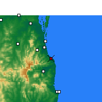 Nearby Forecast Locations - Coolangatta - Map