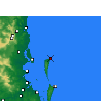 Nearby Forecast Locations - Cape Moreton - Map