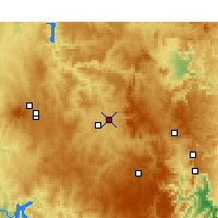 Nearby Forecast Locations - Bathurst - Map
