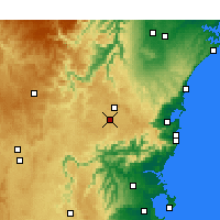 Nearby Forecast Locations - Moss Vale - Map