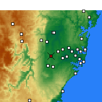 Nearby Forecast Locations - Badgery's Creek - Map