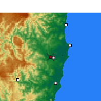 Nearby Forecast Locations - Kempsey Airport - Map