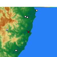 Nearby Forecast Locations - Port Macquarie - Map