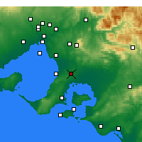 Nearby Forecast Locations - Cranbourne - Map