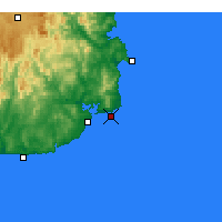 Nearby Forecast Locations - Gabo Island Lighthouse - Map