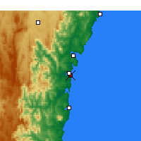 Nearby Forecast Locations - Moruya Heads - Map
