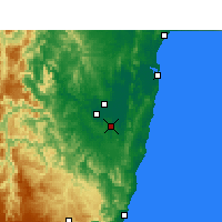 Nearby Forecast Locations - Grafton Airport Aws - Map