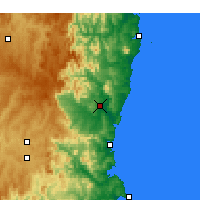 Nearby Forecast Locations - Bega - Map